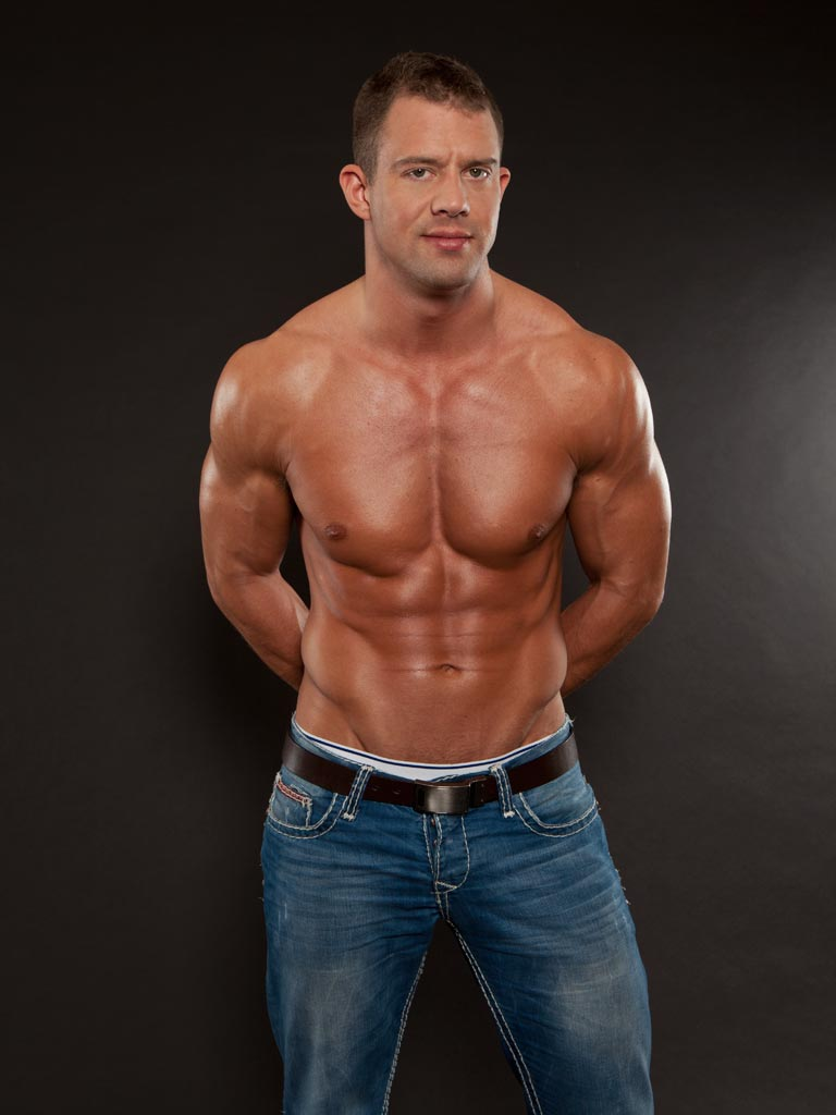 Samuel Star, sporting a chiseled muscular body and a nice