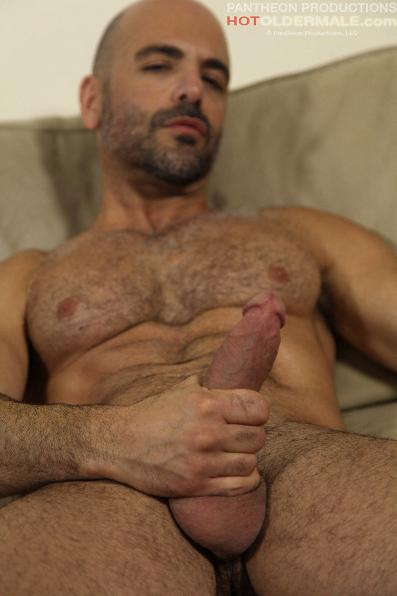 mature muscle man adam russo shows his boner