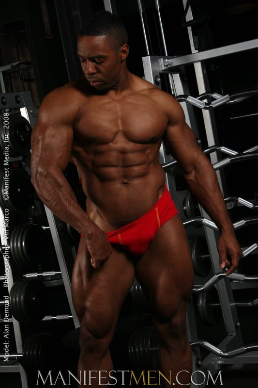 Ebony bodybuilders