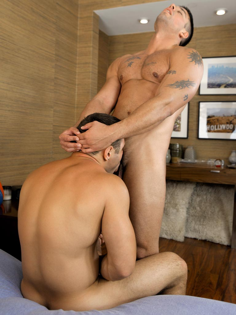 Two hunks in hardcore gay fucking and sucking