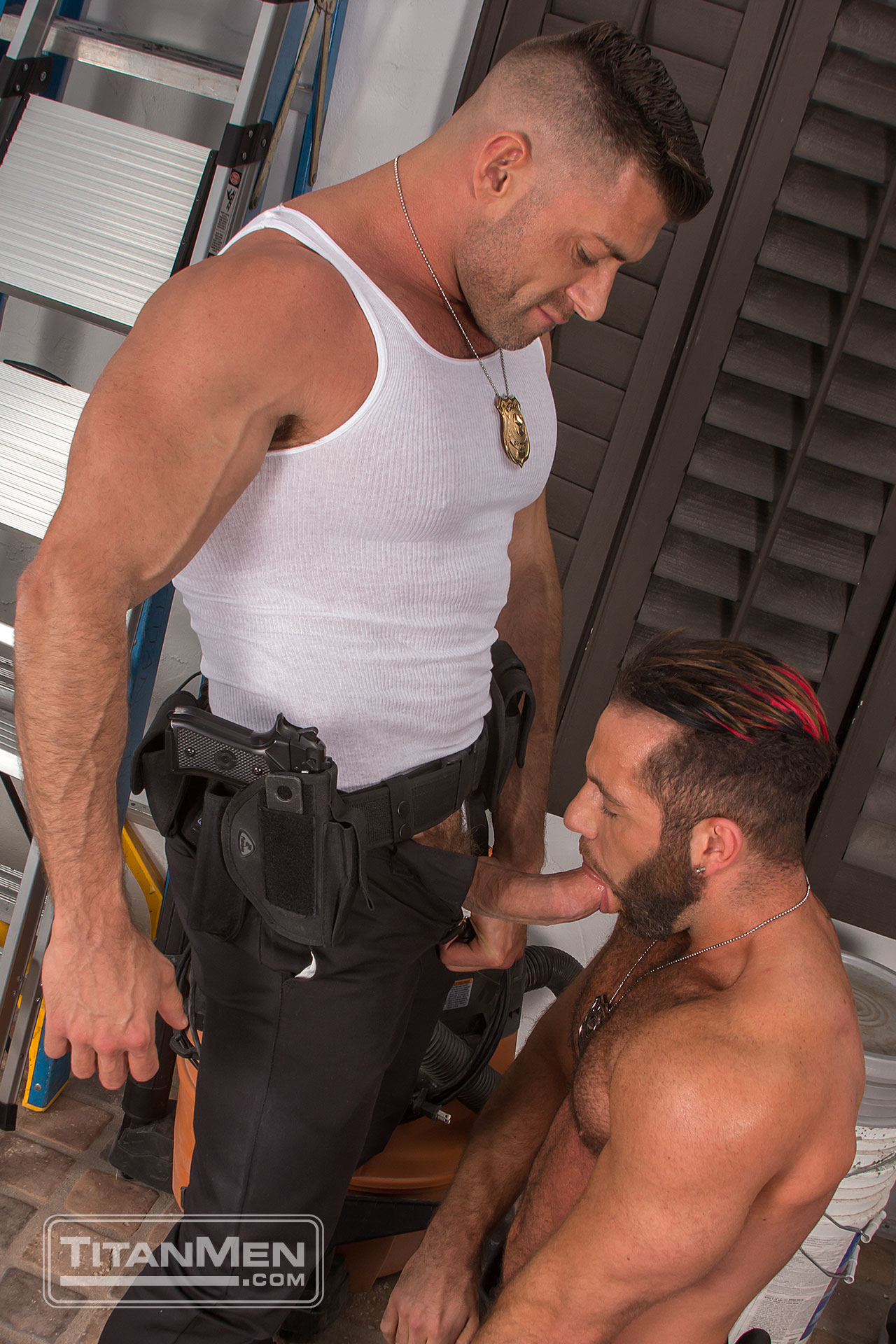 gay hairy police